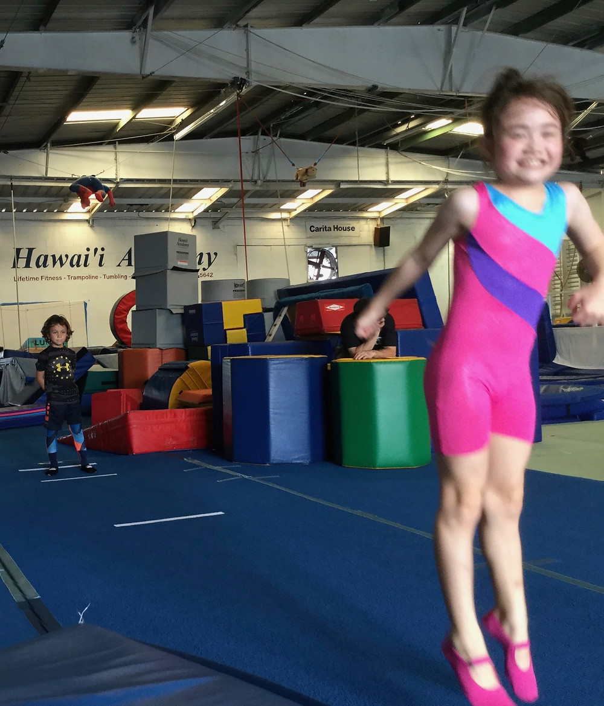 ハワイの体操教室で