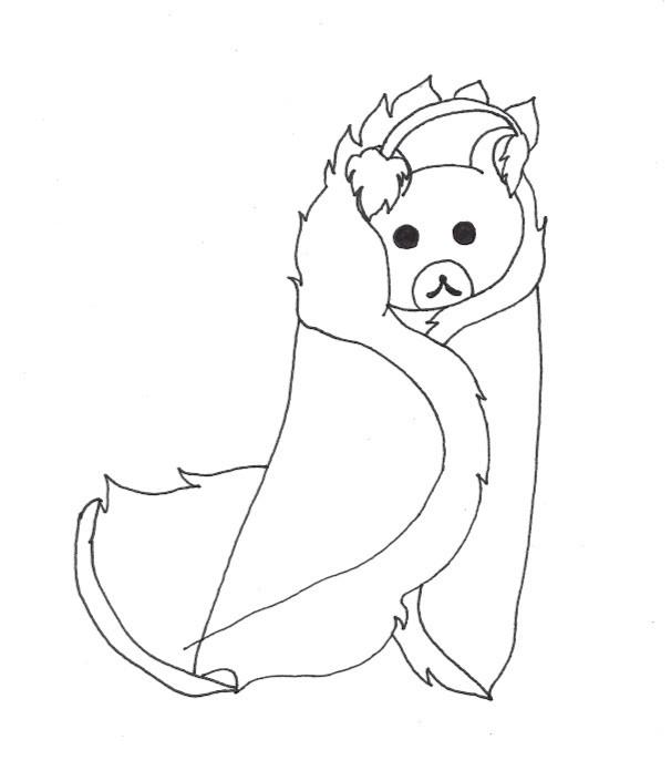 A bear in a furry coat.