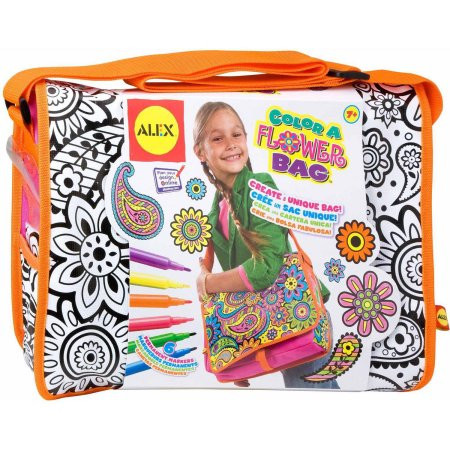 The Color a Flower Bag craft kit from Alex