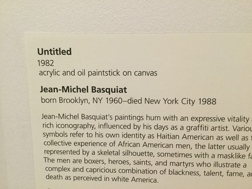 Information about Basquiat's painting.
