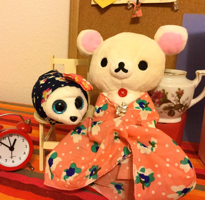 Dresses I sewed for the dolls.