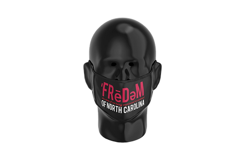 Freedom Of NC Black Red and White Mask