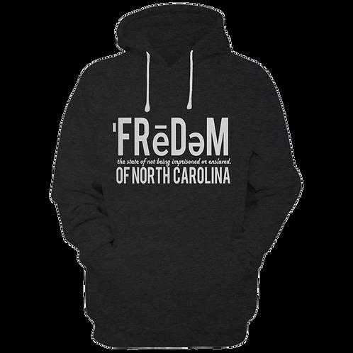 Freedom Of NC Black and White Hoodie