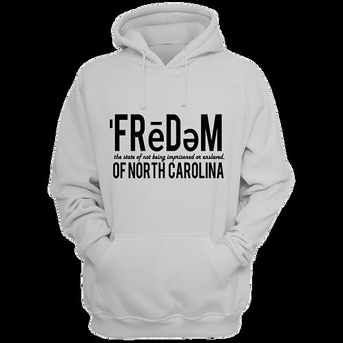 Freedom Of NC White and Black Hoodie