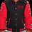 Thumbnail: Freedom Of NC Red and Black Varsity Jacket