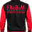 Thumbnail: Freedom Of NC Red and Black Varsity Jacket