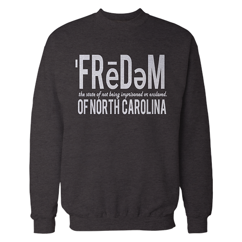 Freedom Of NC Black Crewneck