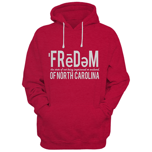 Freedom Of NC Red and White Hoodie