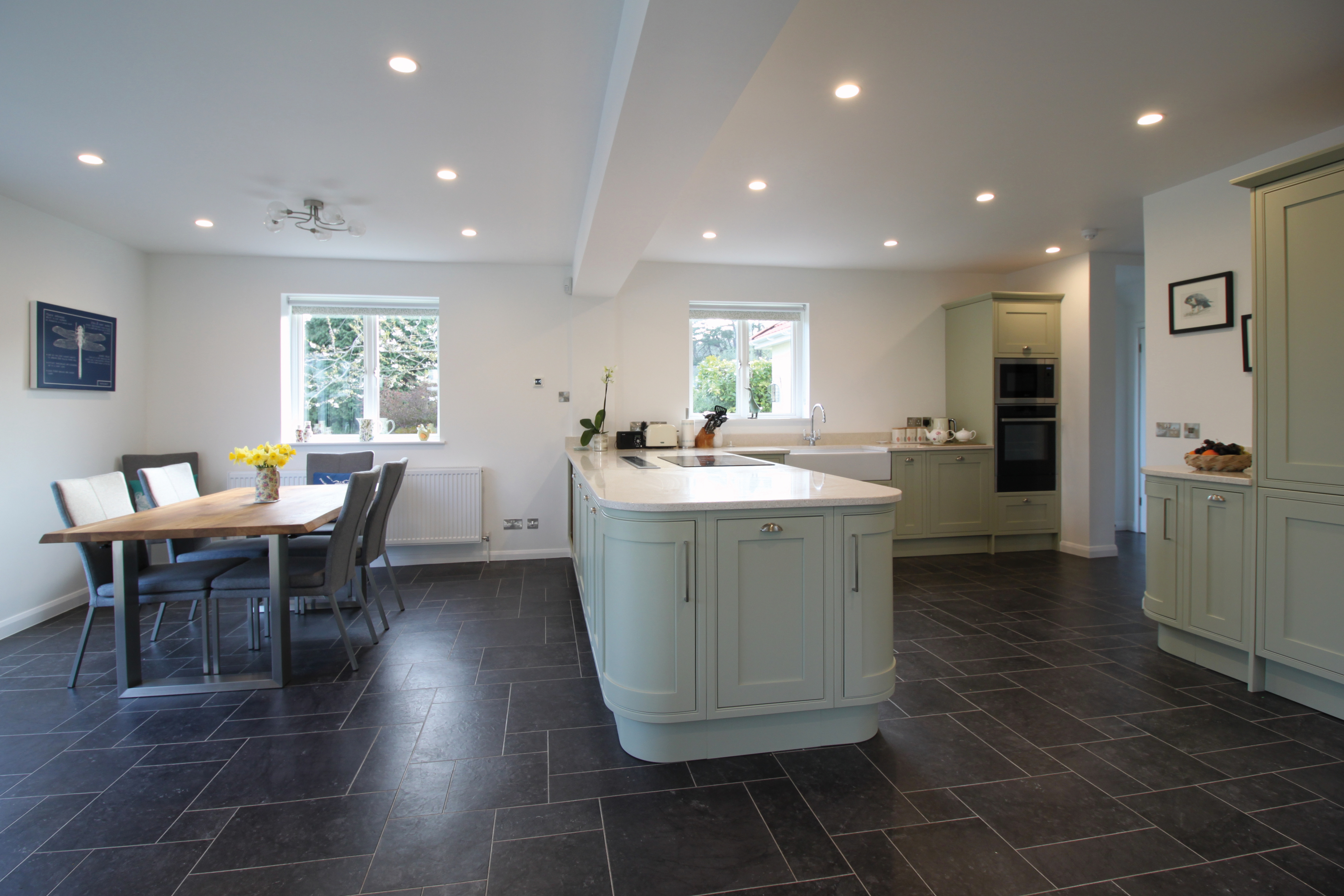 Open plan extension dining area