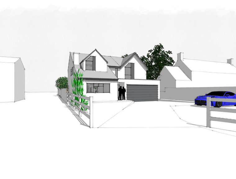 Proposed design for large first floor extension.  Planning approved.