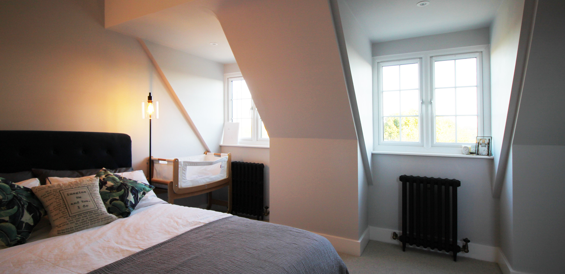 Master bedroom loft conversion with dormer windows