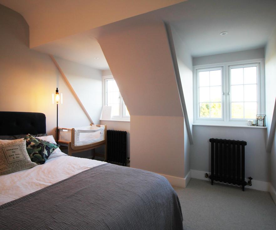 Master bedroom loft conversion with dormer windows