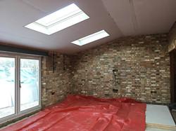 Internal reclaimed brick wall