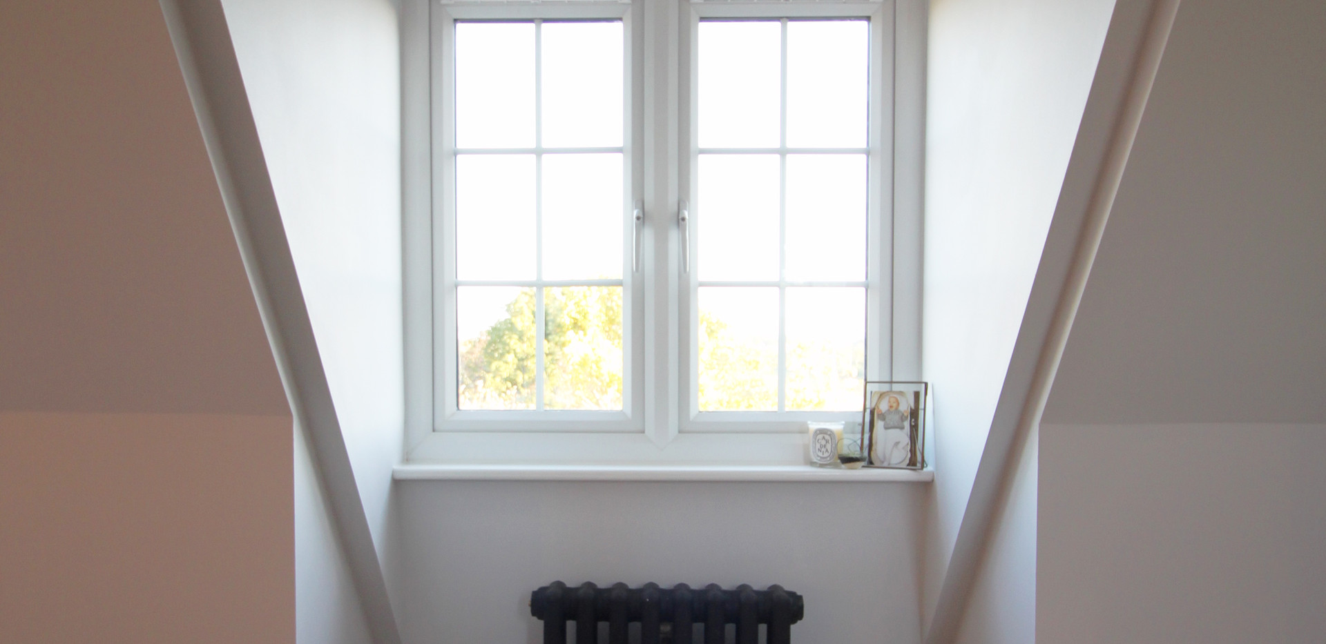 Dormer Window Detail with traditional black radiator