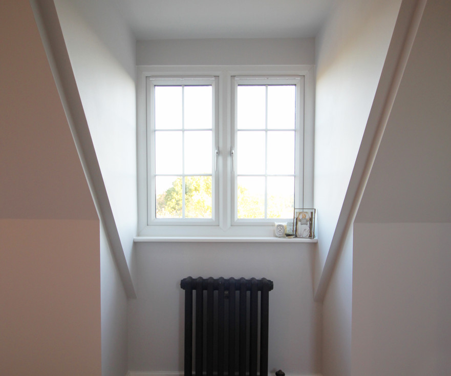 Dormer Window Detail with traditional black radiator
