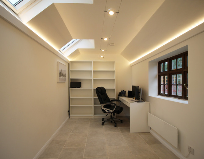 Internal shot of office outbuilding