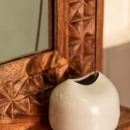 Mirror frame detail