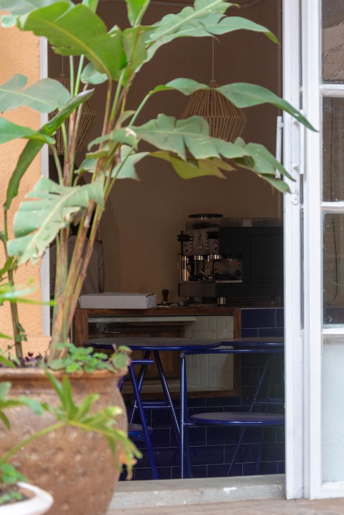 Patio and café