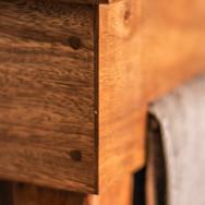Joinery detail of vanity top