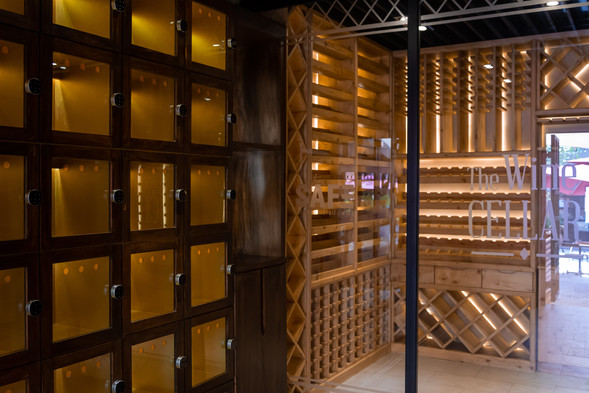 The Safe and wine cellar