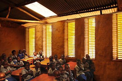 Kiziba pre-primary school window photomontage
