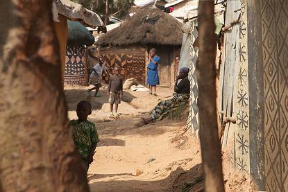 Photomontage, murals at homes' walls Kiziba