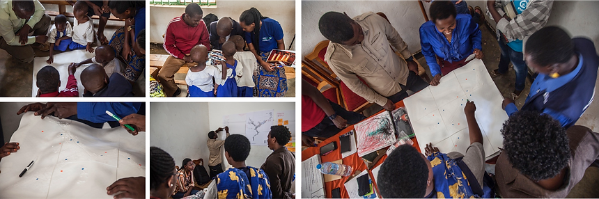 Participatory workshop at Kiziba refugee camp