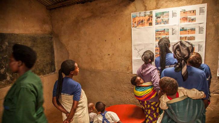 Participatory exercises in Kiziba refugee camp