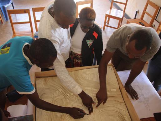 Earth Flooring in Mugombwa Refugee Camp
