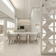 3D de sala de jantar integrada