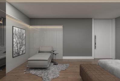 3D de quarto de casal