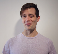 Adam Fridenburg RMT with a grin at Harmo