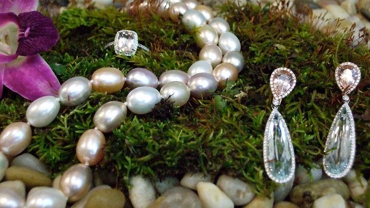 pearls earrings custom jewelry