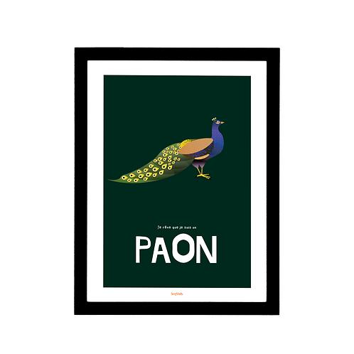 Affiche Le Paon