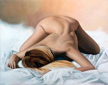 Olivia - Huile sur toile - 73 x 92 cm