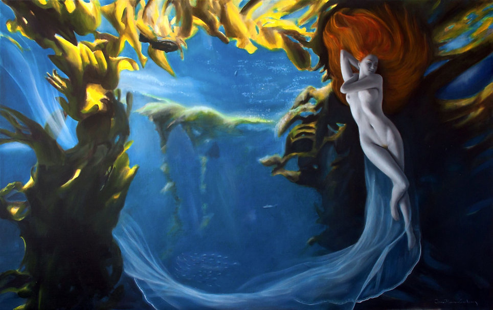 Galatéa - Huile sur toile - 116 x 73 cm
