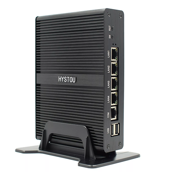 4 LAN Fanless Mini Firewall PC