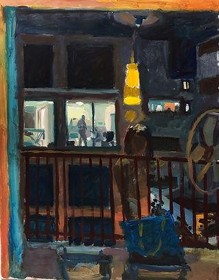 Balcony, 70 x 50, acrylic canvas