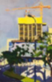 Constructions in Tel Aviv, 120 x 70 cm, oil/canvas
