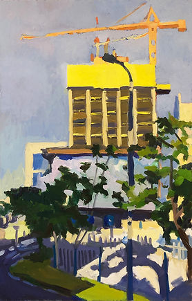 Constructions in Tel Aviv, 120 x 70 cm, oil/canvas