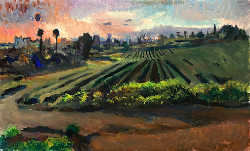 In the fields, 100 x 60 cm, oil/canvas