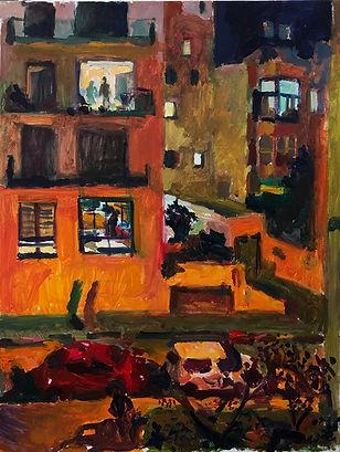 Evening. 90 x 70 cm, acrylic on canvas