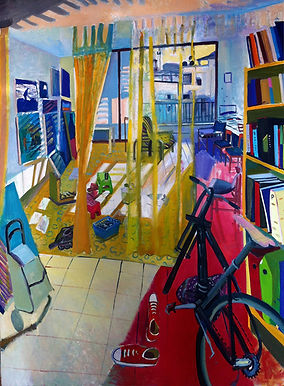 Studio place at home, 170 x 135 cm, oil/canvas
