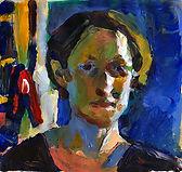 Self, 30 x 30 cm, acrylic/paper