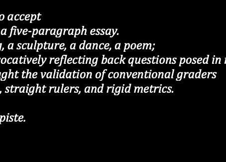 I am not a five-paragraph essay