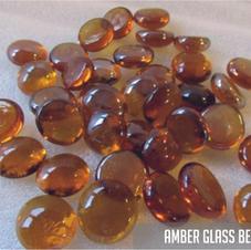 Amber Glass Beads