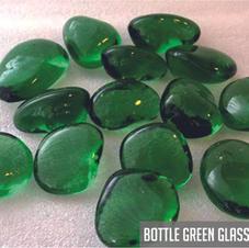Bottle Green Glass Pebbles
