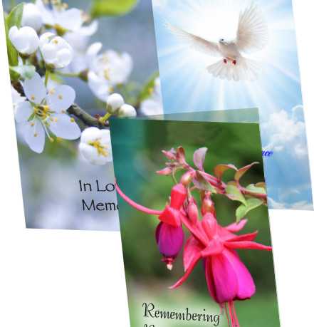 Double Memorial Card