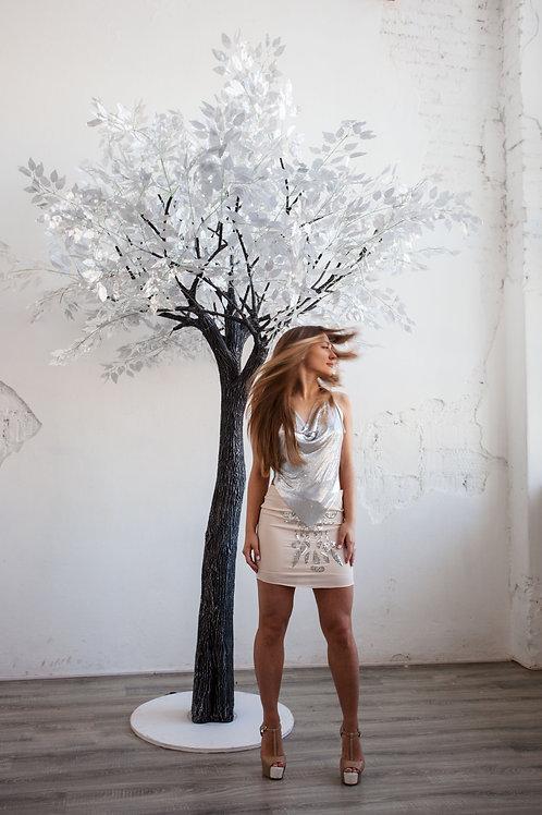 Аренда искусственного дерева Серебрянный фикус  3м.