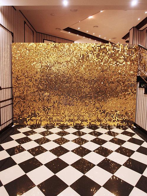 Аренда искусственного дерева Золотая Пайеточная Стена